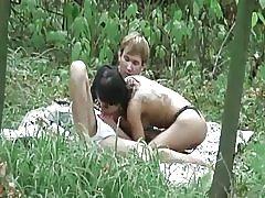 Brunette seks buiten
