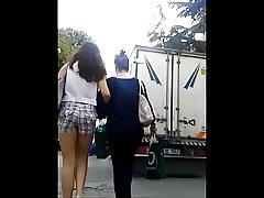 Strakke Turkse tiener kont in mager korte broek