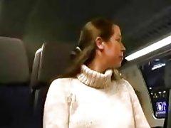 Blowjob op de trein